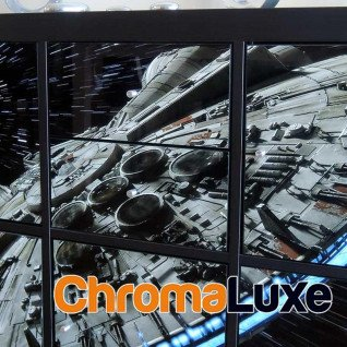 Panel de aluminio Chromaluxe blanco brillo compatible cajonera estantería Kallax - En mueble