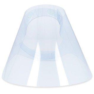 Pantalla protectora facial de plástico RPET transparente