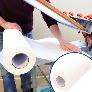 Papel protector adhesivo para mesas de serigrafía - Rollo de 50cm x 100m