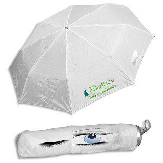 Paraguas plegable blanco