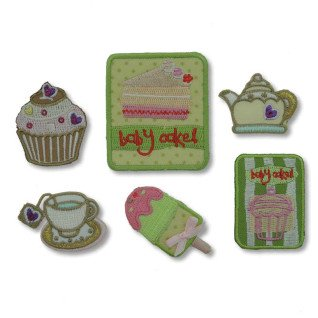Parches bordados Tea Time Surtido 6 uds