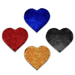Parches de lentejuela reversible forma corazón