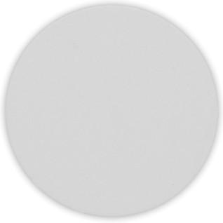 Placa de aluminio blanca de Ø 50 mm