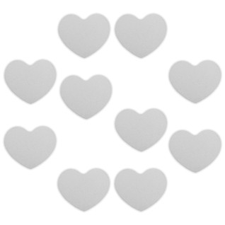 Placa de aluminio blanca para cuelgabolsos plegable magnético forma corazón, pack de 10 unidades