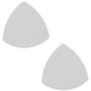 Placa de aluminio para pendientes triangulares, pack de 2 uds