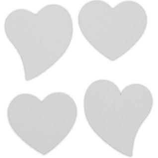 Placas de aluminio forma corazón para colgante tipo mosquetón, pack de 4 uds