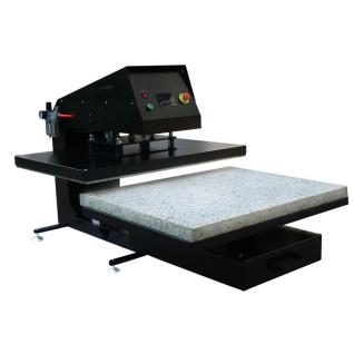 Plancha neumática con plato inferior extraíble Brildor MT-40 105x75 - Detalle plato extraible