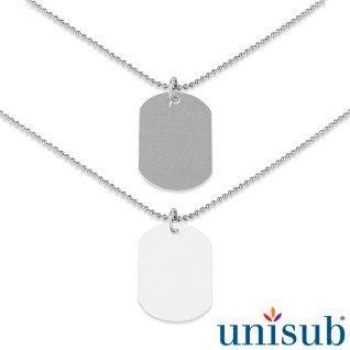 Placas identificativas para sublimación tipo militar y sus accesorios