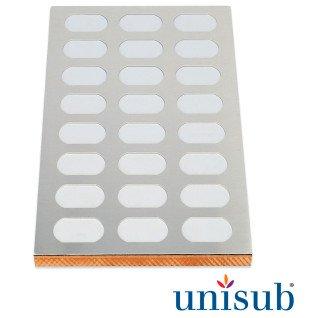 Plantilla para 24 placas identificativas de 28 x 51mm