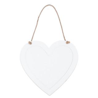 Portafotos colgante para sublimación de madera corazón