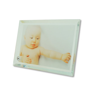 Portafotos de cristal de 180 x 130 mm