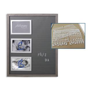 Portafotos triple de pared con texto Serie Lumiere