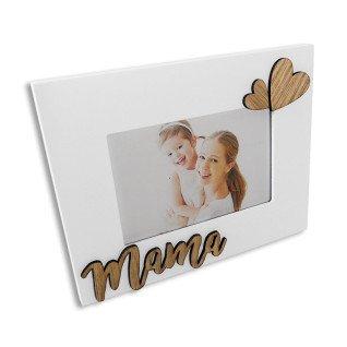 Portafotos blanco y madera Serie Mamá