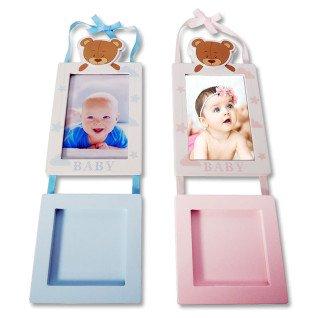 Portafotos de pared bebé con huella