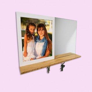 Portafotos con espejo y llavero magnético Serie Foligno
