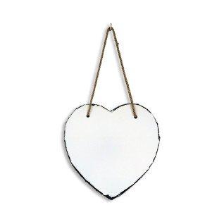Portafotos de piedra pizarra para colgar forma corazón