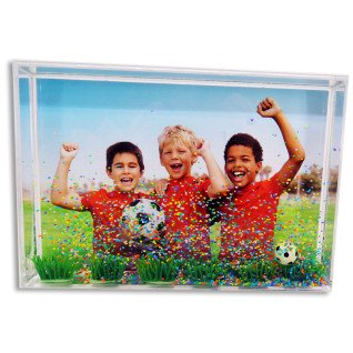 Portafotos rectangular futbol