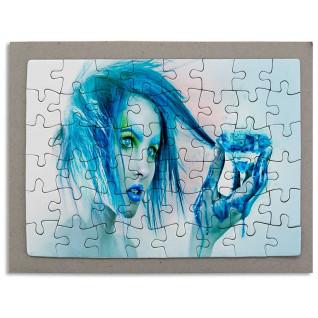 Puzzle de cartón de 48 piezas con marco