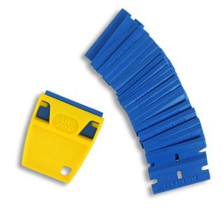 Rasqueta anti-rasguños con 25 cuchillas de plástico especiales policarbonato