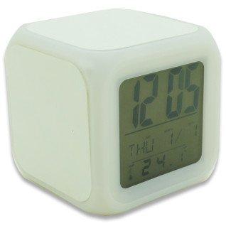 Reloj despertador con luz led