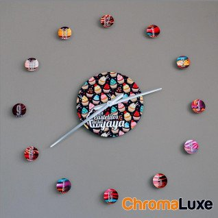 Reloj mural de aluminio Chromaluxe blanco brillo