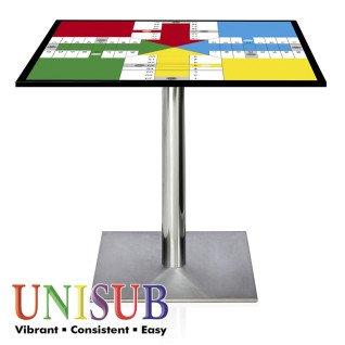 Tablero cuadrado de madera para mesa personalizado