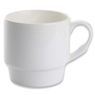 Taza blanca apilable