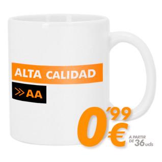 Taza blanca para sublimación - Alta calidad AA