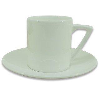 Taza de café para sublimación con plato