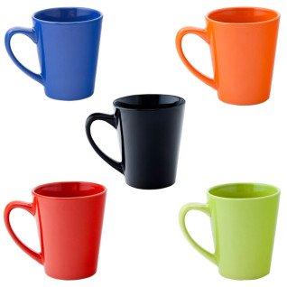 Taza de cerámica cónica colores