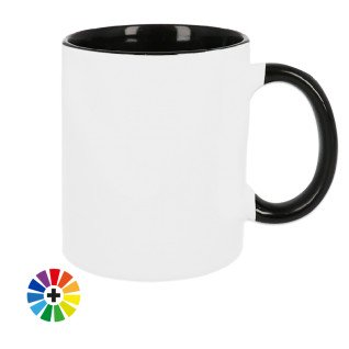 Taza para sublimación con interior y asa de color