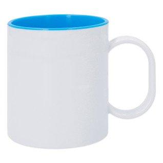 Taza de plástico para sublimación con interior Azul Celeste