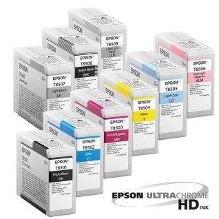Tintas Epson UltraChrome HD para Plotter de impresión fotográfico Epson SC-P800