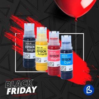 Tintas de sublimación Epson en botella de 90ml - Pack 4 colores CMYK - Black Friday 2020