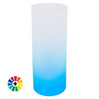 Vaso para sublimación de cristal esmerilado en colores