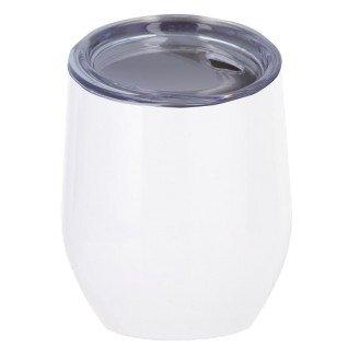 Vaso termo para sublimación de acero inoxidable blanco