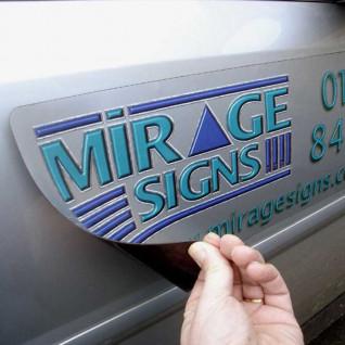 Vinilo Magnético blanco Imprimible - Ejemplo vehiculo 1