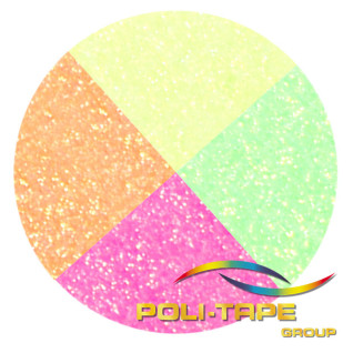 Vinilo Textil Pearl Glitter Neón de Poli-tape - Por metros