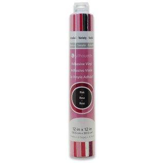 Vinilo Adhesivo Silhouette - Pack 6 hojas rosa surtido