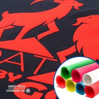 Vinilo Textil Flock Fluor de Poli-tape Tubitherm
