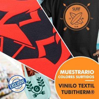 Vinilo Textil Tubitherm® de Poli-Tape - Muestrario de 31 colores surtidos