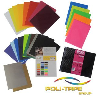 Vinilo Textil Turbo colores surtidos - Pack de 26 hojas de 25 x 33cm