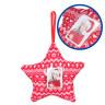 Adornos navideños de tela - Detalle del plástico portafotos
