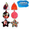 Adornos navideños de cartón - Ejemplo e personalización - Ambas caras