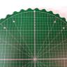 Alfombrilla de corte circular giratoria de 35cm - Líneas angulares