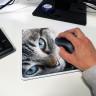Alfombrillas de ratón rectangulares con borde remallado - Muestra alfombrilla personalizada