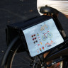 Alforjas para bicicleta - Detalle colocación en bicicleta