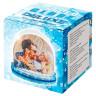 Bola de nieve con foto modelo Deluxe - Caja de presentación azul