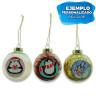 Bolas de navidad con relleno de colores - Ejemplo de personalización