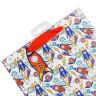 Bolsas de regalo diseño cohetes - Tarjeta, colgador y cinta